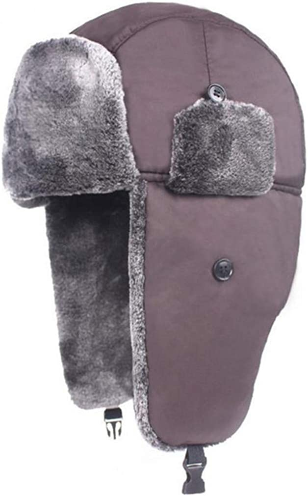 GTFSA Bomber Hat Winter Hats Men Women Thick Warm Fur Velvet Cold Cap Bone Male Ear Protect Snow Hat Ear Flap