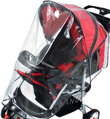 Simplicity Universal Waterproof Weather & Insect Shield Baby Stroller Cover (Clear ()
