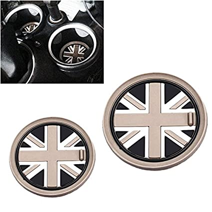 OYJJ Auto Car Vehicle Water Cup Bottle Holder Anti-Slip Pad Mat for BMW Mini Cooper