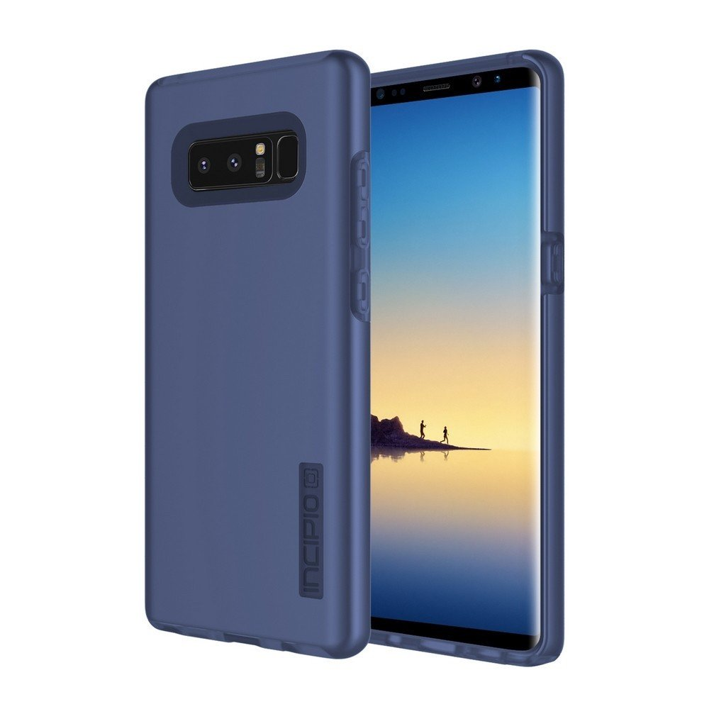Incipio DualPro Samsung Galaxy Note 8 Case with Shock-Absorbing Inner Core & Protective Outer Shell for Samsung Galaxy Note 8 - Midnight Blue