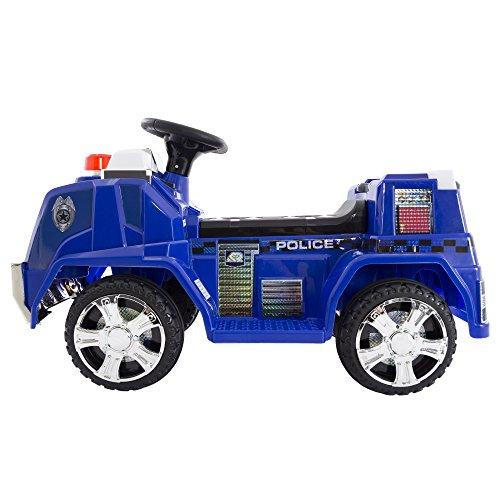 Deluxe Battery Powered Ride On Police Truck - Great for Toddlers!