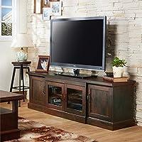 Furniture of America Margot 68.5 TV Stand in Vintage Walnut