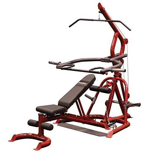 Body-Solid GLGS100P4 Corner Leverage Gym Package, Includes Gfid100 Bench