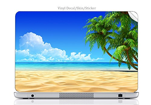Laptop VINYL DECAL Sticker Skin Print Beachfront Art fits Chromebook 550