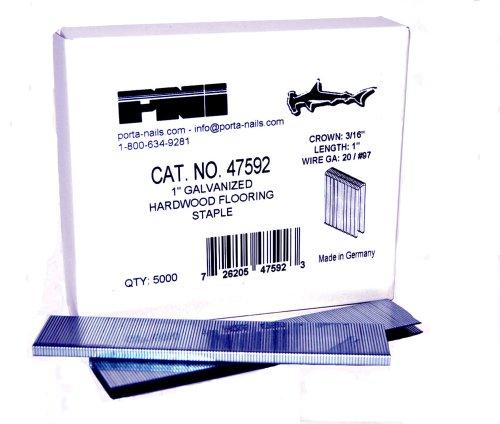Porta-Nails 47592 20 Gauge 1-Inch Staples (5,000 per Box) by Porta-Nails (Image #1)