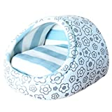 Bestruby Pet Beds Soft Dog House Large Blue