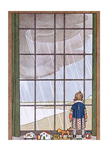 Laughing Elephant - Rainy Day Art Print