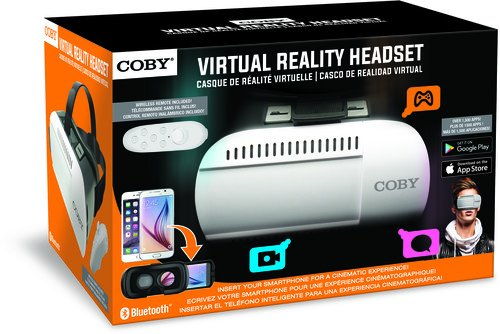 - Coby CVG-02-RC Virtual Reality Goggles with Wireless Remote