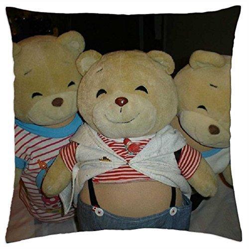 THREE TEDDIES - Throw Pillow Cover Case (16 - Nina Teddies