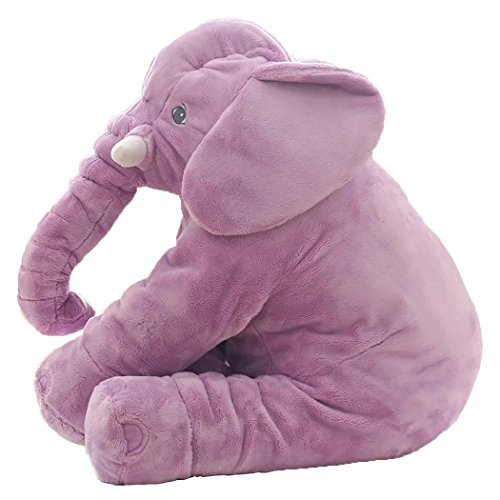 Romanstii Elephant Plush Toy, Stuffed Animal Toy For Kids, Child As a Gift Purple 23.5''