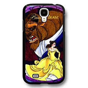 Disney Cartoon Beauty and The Beast, Hard Plastic Case for Samsung Galaxy S4 - Disney Princess Samsung S4 Case Cover - Black