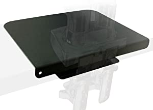 Steel Monitor Mount Reinforcement Plate Fits Most Monitor Desk Mount,for Fragile Tabletop Protection (Black, Square-1)