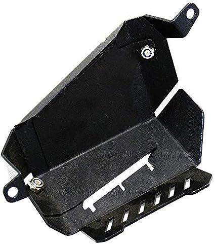Alluminio Lega Moto Accessori per Yamaha MT-07 FZ-07 Afittel0 Refrigerante Recupero Serbatoio Protezione Cover Free Size Nero