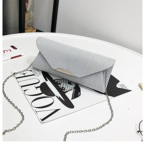 Evening Weddings Envelope Bag Bridal Bags Womens Kigurumi Clutch Clutch Silver for d1IcOw