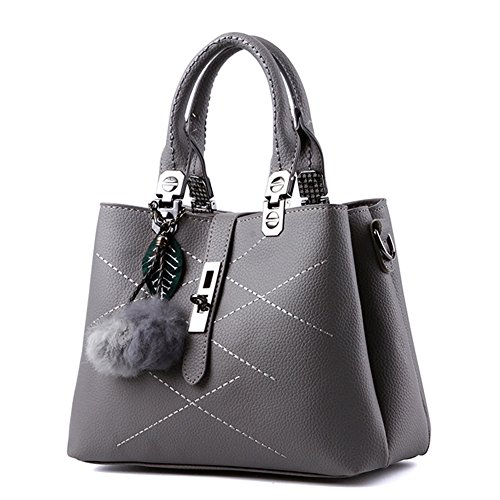 Bag Cross Shopper Handbag Ladies Handle Style New With Blue Top Strap 2 Shoulder Grey Body Leather Light Pu Totes 8876wgxS