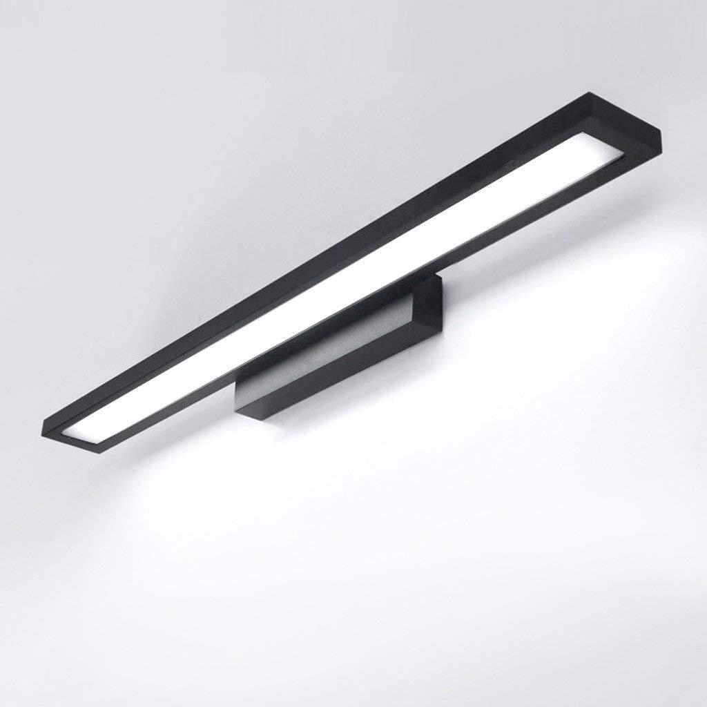 FuweiEncore Luces Delanteras del Espejo Lámparas de Pared para el baño Lámparas LED Simples y Modernos inodoros Espejo Impermeable Iluminación Negro (Color: luz cálida -90cm)