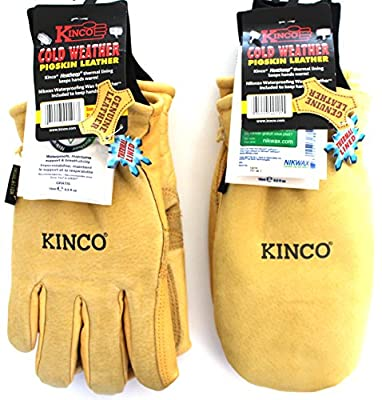Kinco 901 and 901T - Work & Ski Glove and Mitten. Pigskin Leather w Nikwax waterproofing. The gloves & Mitts are a MUST for any Harden Skier, Snowboarder, Ski Patrol, Lift Operator
