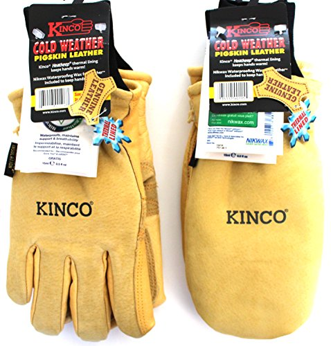 Patrol Mitten (Kinco 901 and 901T - Work & Ski Glove and Mitten. Pigskin Leather w Nikwax waterproofing. The gloves & Mitts are a MUST for any Harden Skier, Snowboarder, Ski Patrol, Lift Operator (Large))