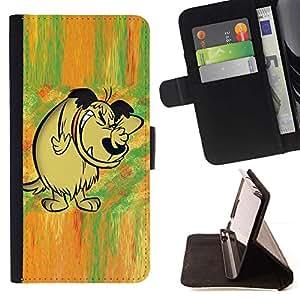 Momo Phone Case / Flip Funda de Cuero Case Cover - Cuento de hadas del bosque cómico dibujo dibujos animados de perro - Sony Xperia Z2 D6502