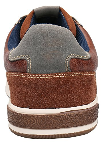 SHENBO Brown Retro Spectator Men's Fashion Sneakers (12, Brown)