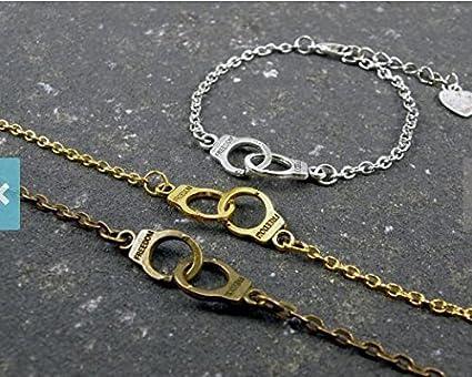 Amazon Com 3 Handcuffs Bracelets Partners In Crime Best Friend