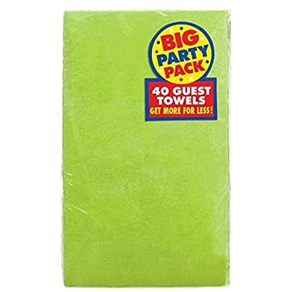 Party Supply Amscan 63215.25 Big Party Pack 2-Ply Guest Towels Purple Pack of 40