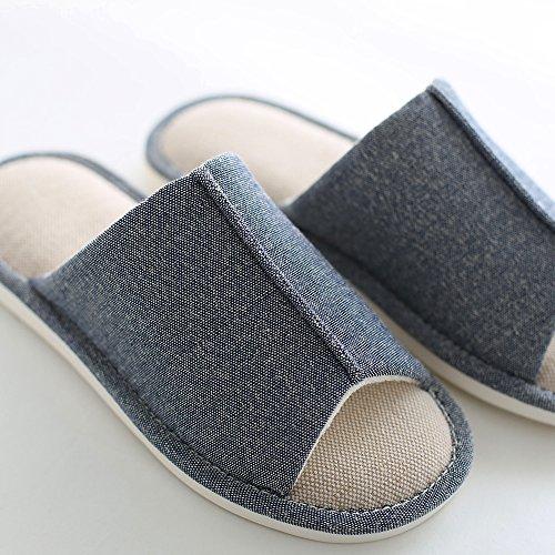 da Ciabatte Unisex Pantofole Canapa Blu di Uomo Stoffa in da Adulto mianshe da Donna Chiaro Pantofole 07USU