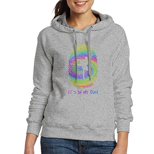 Haptirw It's In My DNA Ballet Girls Chic Drawstring Long Sleeve Hooded Sweatshirt - Buyers Sunglass Club