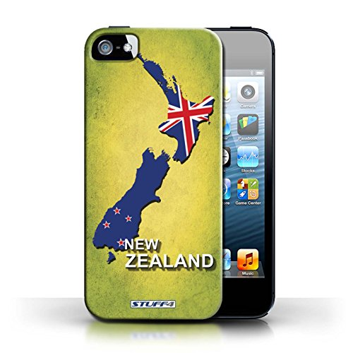 KOBALT® Hülle Case für Apple iPhone 5/5S | Neuseeland Entwurf | Flagge Land Kollektion