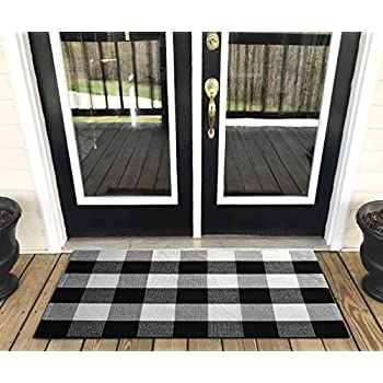 Amazon Com Levinis Buffalo Plaid Rug Outdoor Retro