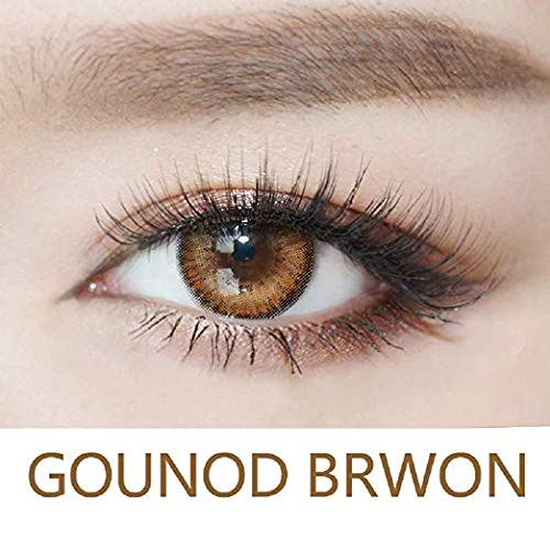 WQFXYZ Women Multi-Color Contact Lenses Cosplay Eyes Cute Charm and Attractive Fashion Eye Accessories Cosmetic Makeup Eye Shadow (Brown)