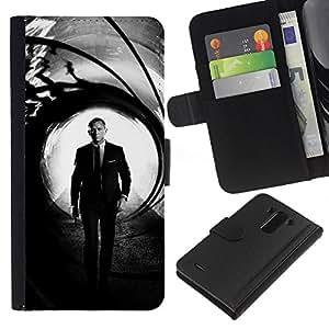JackGot ( Daniel Craig Bond ) LG G3 la tarjeta de Crédito Slots PU Funda de cuero Monedero caso cubierta de piel