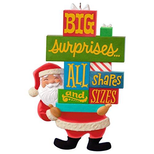 Santa's Big Surprise Ornament Santa Claus - Delivery Santa Christmas Tree Ornament