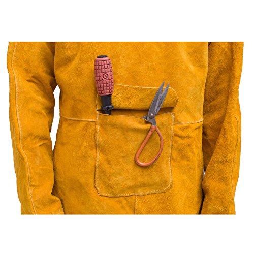 XXXL Protective Coat Cowhide Leather Apparel Suit XXL Welder Jacket L XL