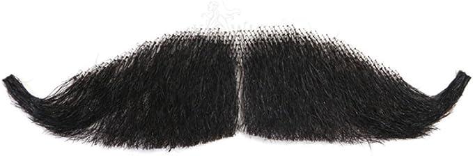 Remeehi Hombres del 100% pelo humano Fake Barba hombre maquillaje falso bigote ideal para disfraz y Fiesta: Amazon.es: Salud y cuidado personal