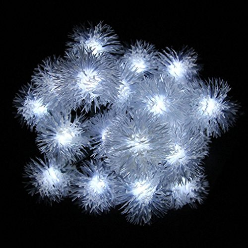 Aulley home 5M 20LEDS Snowball Solar Fairy String Lights Christmas Outdoor - Christmas Snowball Lights