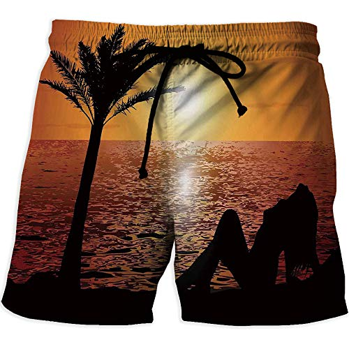 Men's Lightweight Workout Running, Girls,Quick Dry Beach Shorts with Pockets ()