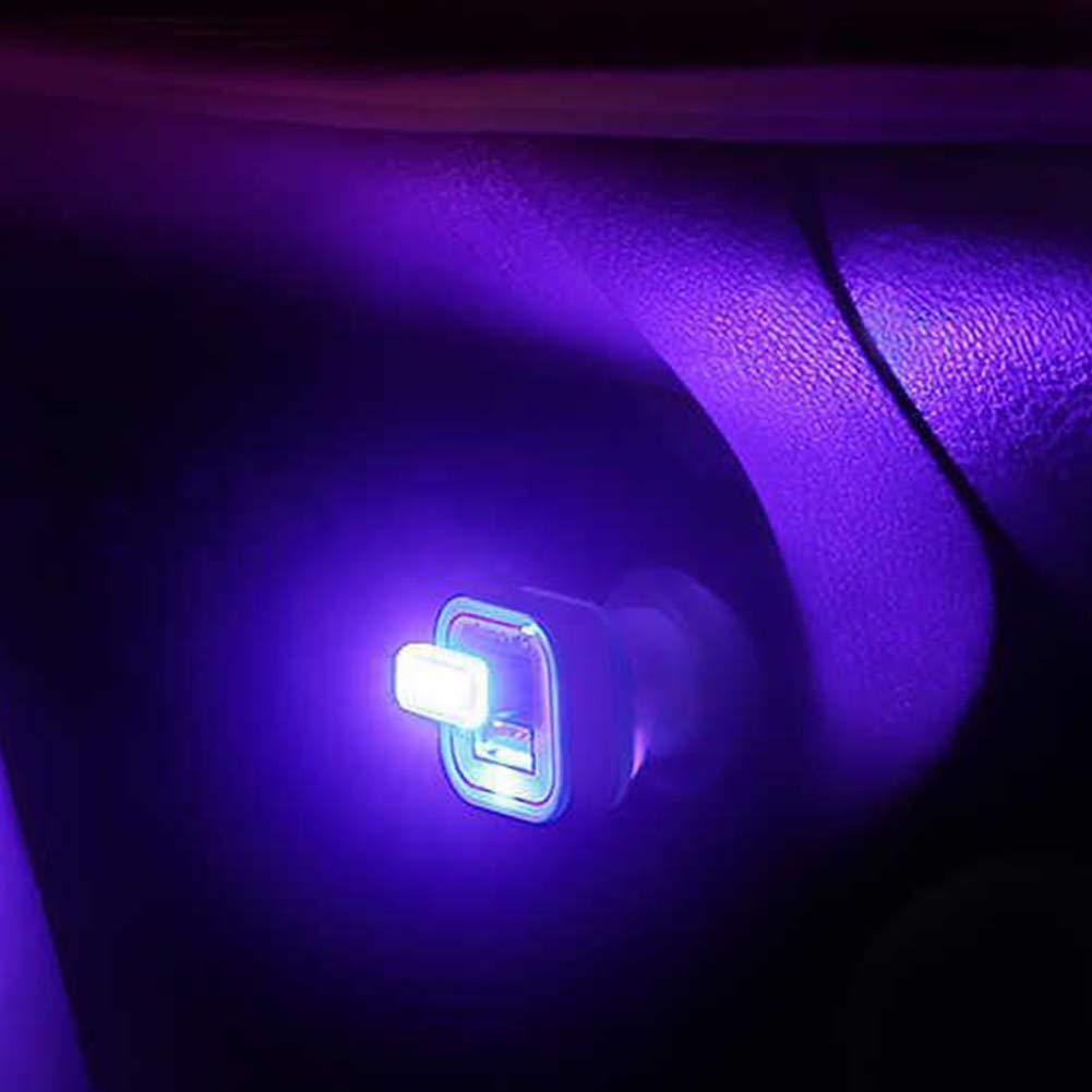 newhashiqi /Éclairage de Voiture USB Mini USB LED /Éclairage int/érieur de Voiture D/écoratif Lumi/ères dambiance