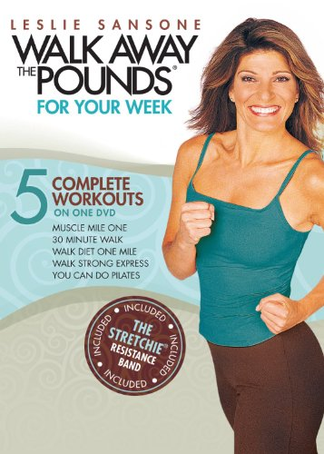 Leslie Sansone : 5 Complete Workouts : You Can Do Pilates , Walk Strong Express , Walk Diet One Mile , 30 Minute Walk , Muscle Mile One - With Bonus Resistance Band