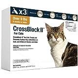 CrossBlock II Flea Preventative for Cats Over 9Lb. (3-Pack)
