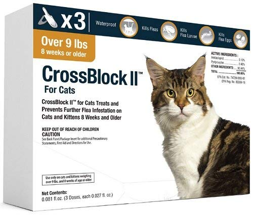 CrossBlock II Flea Preventative for Cats Over 9Lb. (3-Pack)