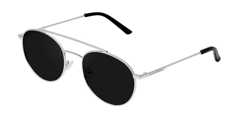 Hawkers Unisex Adults' Silver Dark Hills Sunglasses, Black (Plata/Negro), 65 HIL01