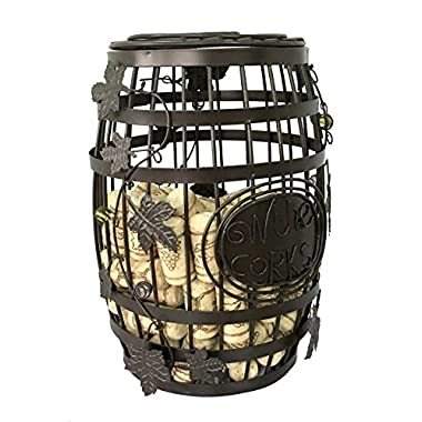 ESK Collection Wine Barrel Cork Cage - Great Bar Decor - Wine Corks Storage