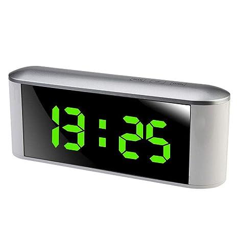 ORPERSIST LED Espejo Despertador Reloj Digital con ...