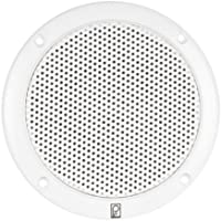 POLY PLANAR 80W (Pair) 2-Way Coaxial 6 White Round Integral Speaker, MFG# MA-4056-W, White, low magnetic field, integral plastic grill. Hardware and speaker wire included. / POL-MA-4056-W /
