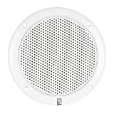 POLY PLANAR 80W (Pair) 2-Way Coaxial 6'' White Round Integral Speaker, MFG# MA-4056-W, White, low magnetic field, integral plastic grill. Hardware and speaker wire included. / POL-MA-4056-W /