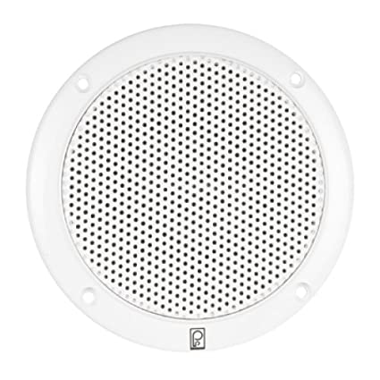 Amazon Com Poly Planar 80w Pair 2 Way Coaxial 6quot White Round