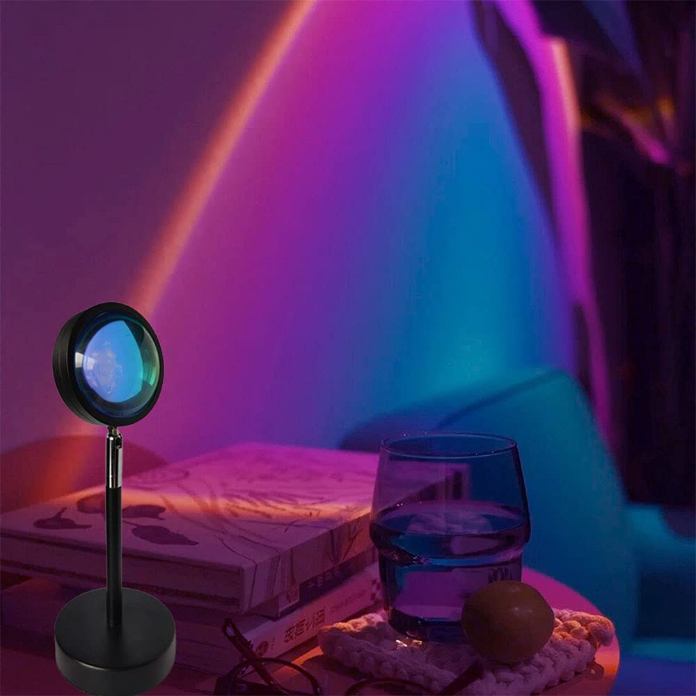 Rainbow Projection Lamp Night Light Projector Led Lamp Romantic Projector for Home Party Living Room Bedroom Decor