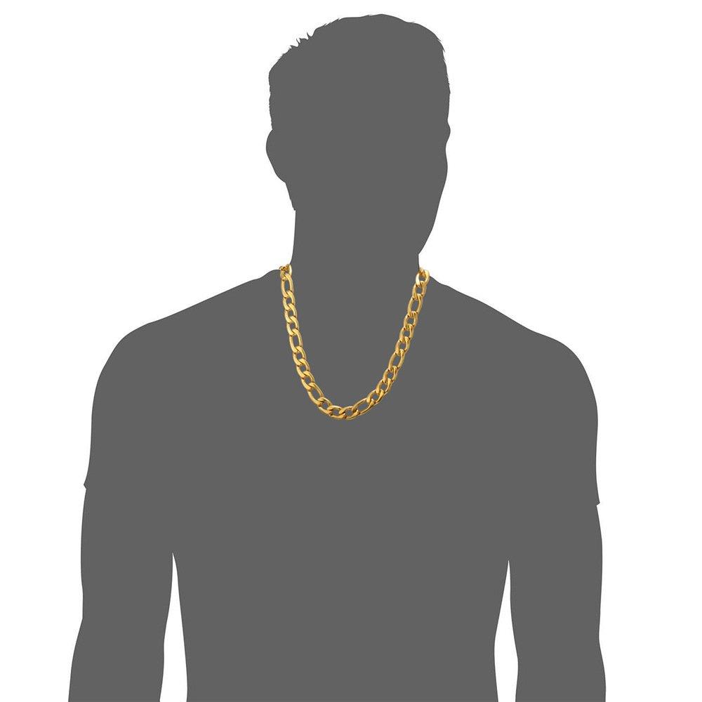 Bijoux Tendance Simple en Acier Inoxydable//Plaqu/é Or//Noir 3 en 1 U7 Collier Homme Cha/îne Figaro 5mm//9mm//12mm de Large 45cm//51cm//55cm//61cm//66cm//71cm//76cm
