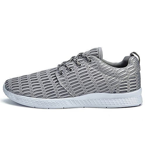 Befair Comode Scarpe Da Corsa Per Uomo Outdoor Casual Traspirante Stringate Sneakers Da Ginnastica Grigie